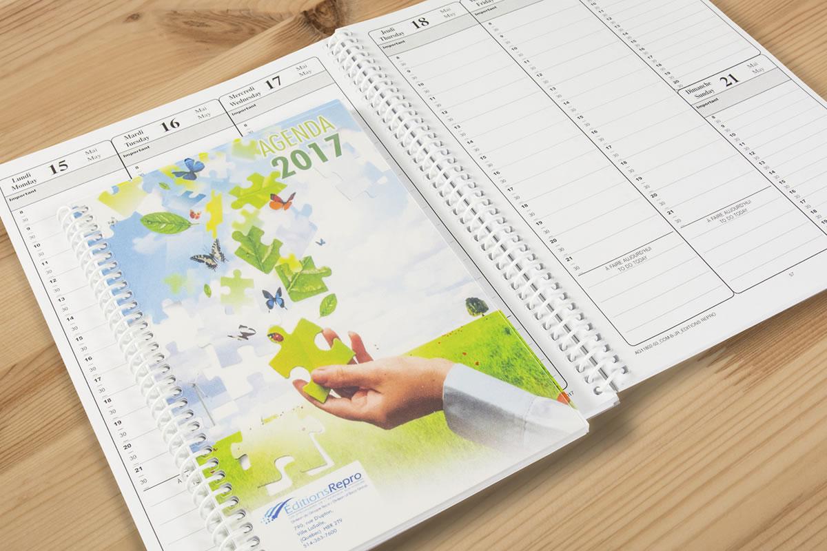 Expert agenda planner printing the evolution group for Custom photo planner